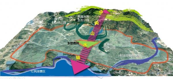 清华同衡风景园林中心在《贵州清镇职教城乡愁贵州概念性规划》方案