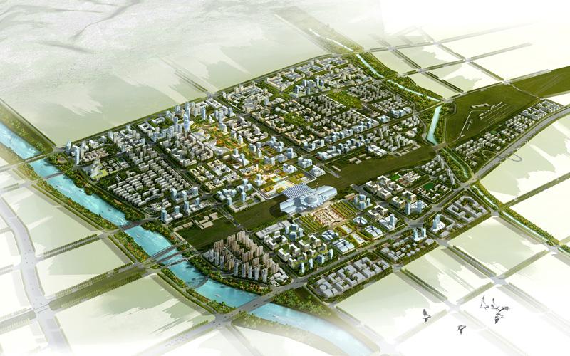 呼和浩特市火车东站综合交通枢纽区城市设计