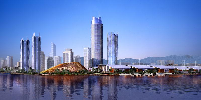 中央十字门_珠海十字门中央商务区空间规划研究