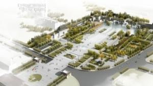 山东邹平县长山镇范公广场景观规划设计