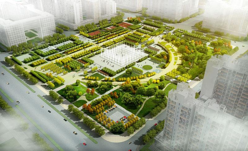 張家口市民廣場景觀規劃設計