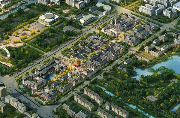 山东陵县城市中心区详细规划设计