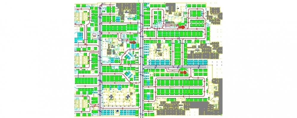 城市道路设计平面图手绘图