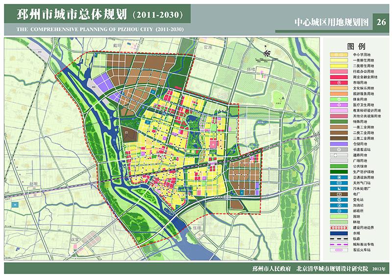 京杭运河沿岸的城市_邳州市城市总体规划(2011-2030)