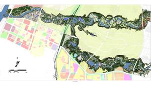 山西临汾涝洰河河道整治景观规划