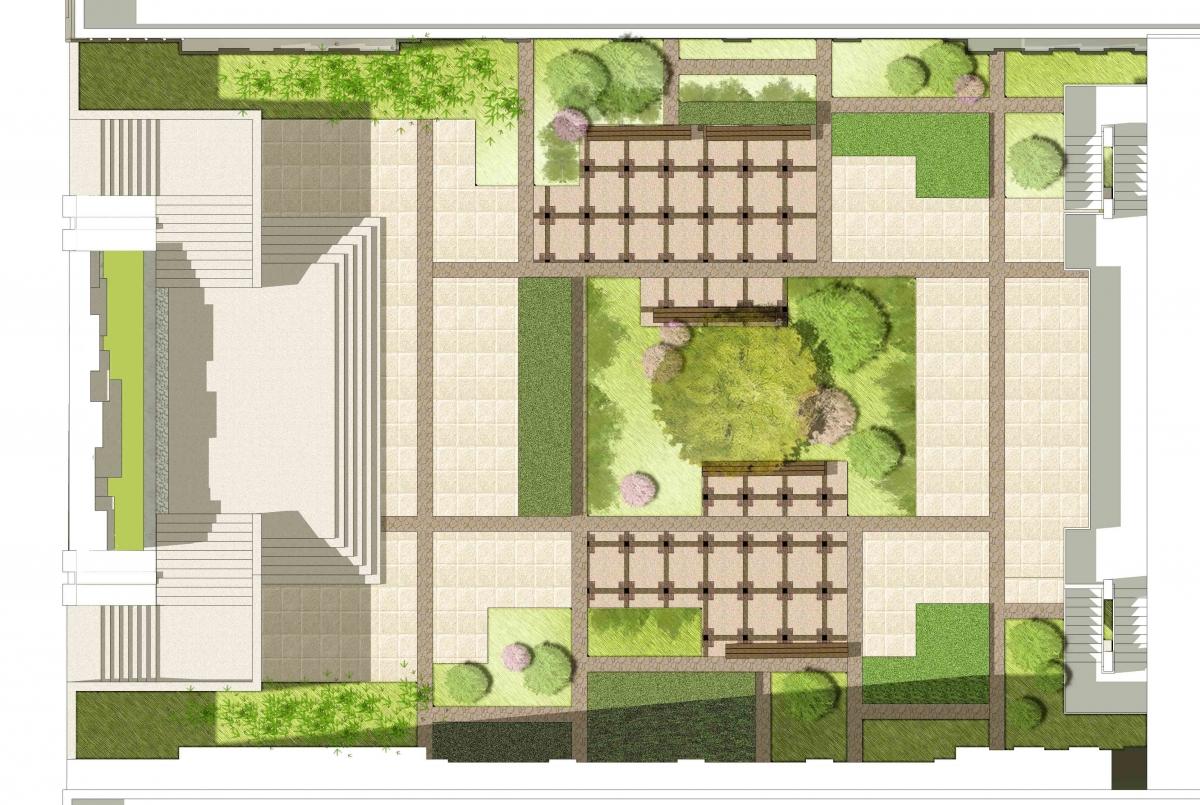 青海大学建筑庭院景观设计