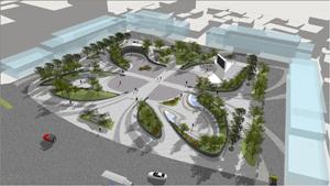 天全县中心音乐广场方案设计