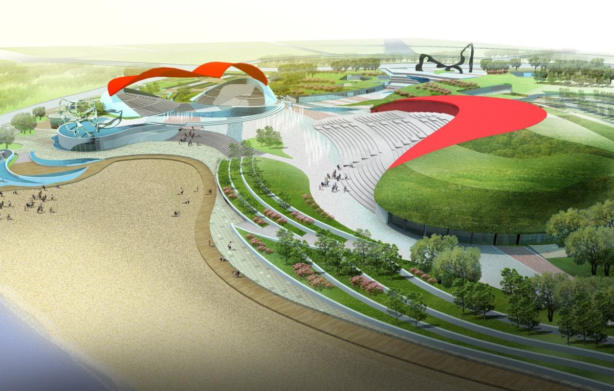 興城市比基尼廣場景觀概念及方案設計