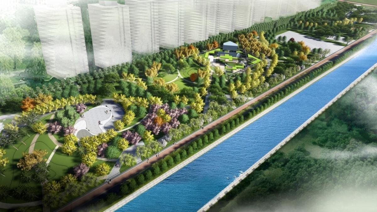居民区景观设计手绘平面图