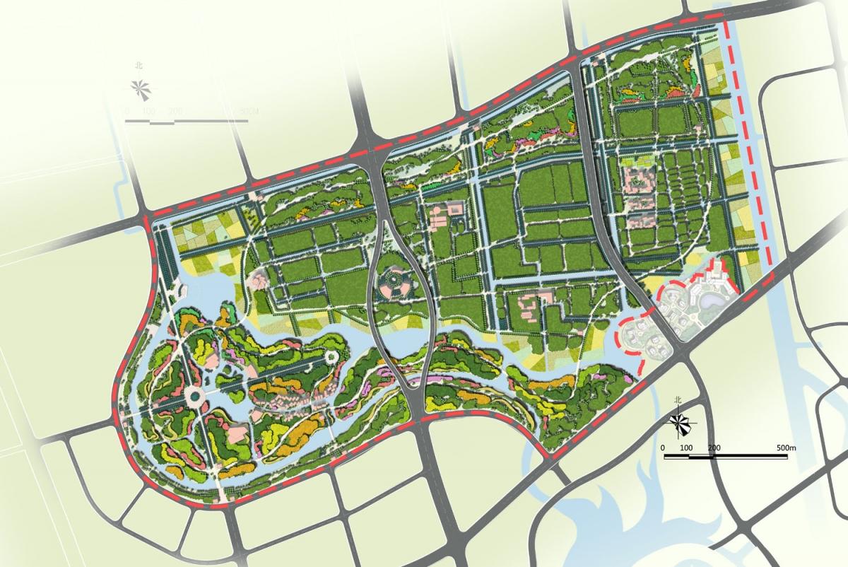 街头绿地设计平面构成