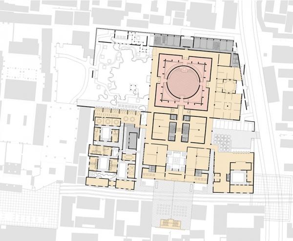 岳飞纪念馆建筑方案设计一层平面图.jpg
