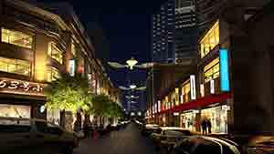 南昌红谷中大道沿线户外广告牌匾-商业橱窗规划设计