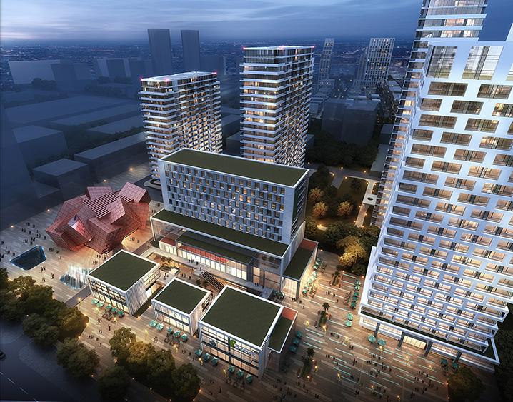 上海中建建筑设计院_中建产业基地商业地块项目