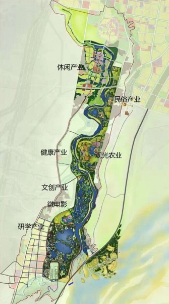 风景园林类|韩城市澽水河景观概念规划
